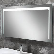 Large Bathroom Mirror With Lights Hib Christa Large Landscape Led Back Lit Bathroom Mirror