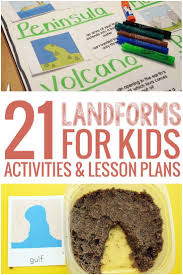 thanksgiving science lesson 21 landforms for kids activities and lesson plans teach junkie