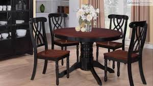 addison black cherry round dining room collection from coaster