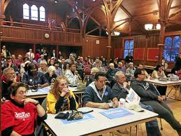 new haven democrats hear from clinton sanders camps new haven