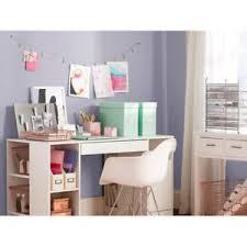Craft Desk Organizer Sewing Craft Table W Drawer Shelves Storage Desk Organizer White