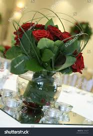 Red Rose Table Centerpieces by Pretty Table Centerpiece Made Out Red Stock Photo 1355671