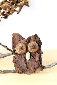how to make bark owls