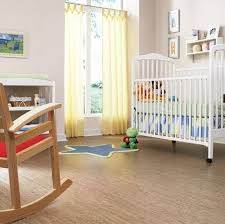 sol chambre bébé revêtement de sol en liège avantages inconvénients photos