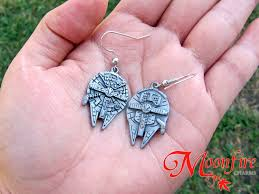 wars earrings wars millennium falcon earrings moonfire charms