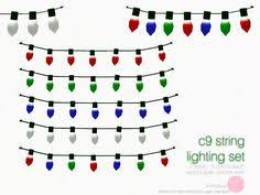 sims 3 holiday lights halloween string light set 2 meshes table and wall l ls by
