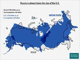 map usa russia map overlays comparing size business insider