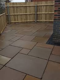 Indian Sandstone Patio by Autumn Brown Indian Sandstone Paving Slabs