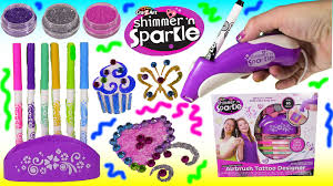 cra z art shimmer n u0027 sparkle airbrush tattoo designer diy