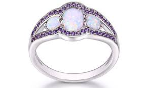 groupon engagement ring white opal engagement ring groupon goods