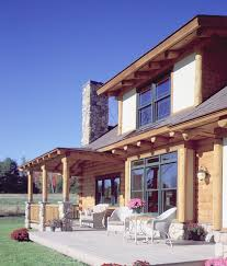 maine log home shows variety of exterior finishes real log homes