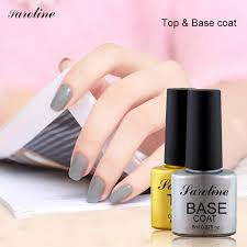 saroline 8ml long lasting top coat base coat uv gel nail polish