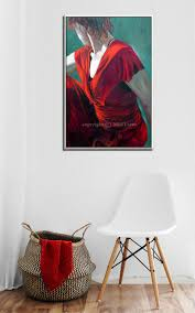 unique figure wall art for canvas art painting of secrets mystery and sensuality by miri