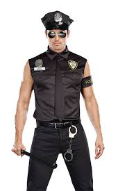 party city halloween costumes police amazon com dreamgirl men u0027s dirt cop officer ed banger costume