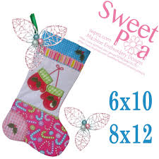 Stocking Designs by Christmas Stocking Mittens 6x10 8x12 In The Hoop Machine