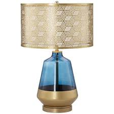 Teal Table Lamp Cobalt Blue And Gold Table Lamp With Metal Shade Rc Willey