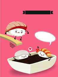 expression cuisine pink background sushi expression posters animation background