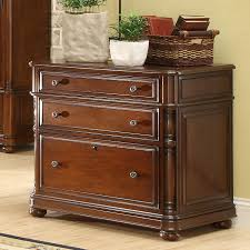 Cherry Lateral File Cabinet 2 Drawer by 3 Drawer Lateral File Cabinet With Bun Feet By Riverside Furniture