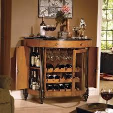 small rustic wood bar cabinet and wine rack decofurnish care