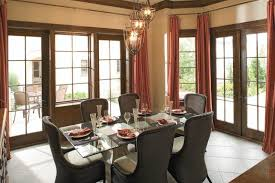 window treatments for large windows dining room traditional with