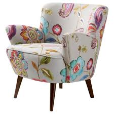 Floral Accent Chairs Living Room Floral Accent Chair White Wood Floral Chair