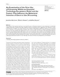 an examination of the prior use of e learning within an extended tech u2026