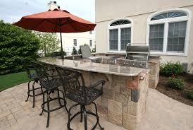 L Shaped Outdoor Kitchen by Custom Built Outdoor Kitchens 2010 Big U Shape Kitchen With