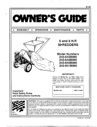 mtd chipper 243 645b000 user guide manualsonline com