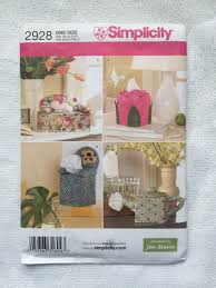 simplicity home decor tissue box covers sewing pattern simplicity 2928 rose flower