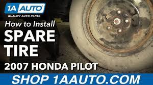 honda pilot spare tire how to install spare tire 2007 honda pilot