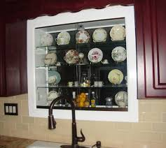 Kitchen Curio Cabinet Lighted Kitchen Window Teacup And Saucers Curio Cabinet Hometalk