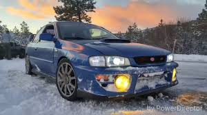 subaru gc8 coupe gc8 swapped subaru impreza wrx sti coupe 2 5rsti having fun in the