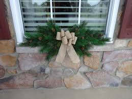 Window Christmas Decorations by Window Swag Christmas Swag Christmas Decoration Window