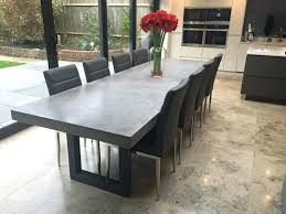 concrete and wood dining table concrete resin table a dining table in white concrete resin concrete
