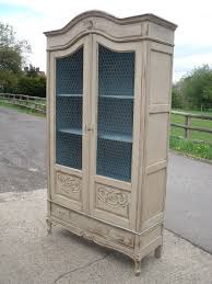 Antique Oak Armoire Antique French Painted Oak Armoire With Chicken Wire Antique