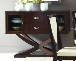 Patio Sideboard Table Cherry Finish Birch Wood Dining Room Buffet Server Sideboard Black