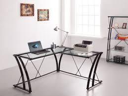 bureau metal et verre bureau d angle gentle métal verre trempé coloris noir