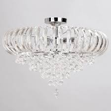 Glass Droplet Ceiling Light by June 3 Light Crystal Droplet Semi Flush Chrome Ceiling Light