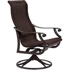 Rocking Patio Chair Montreux Woven Swivel Rocker Tropitone