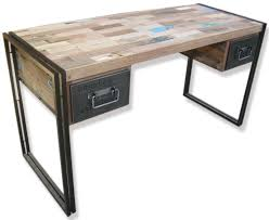 industrial desk with 2 drawers desks industrial vintage u0026 retro