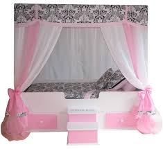 sophia canopy bed with bedding pink princess canopy bed
