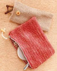 knit pouches patterns free and crochet