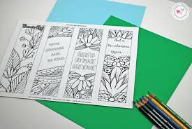 free printable coloring bookmarks crafty housewife