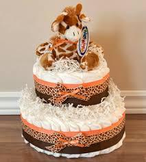 bitsybird baby co orange giraffe diaper cake http www