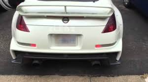 nissan 350z back bumper nissan 350z sequential turn signals youtube