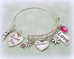 goddaughter charm bracelet goddaughter charm bracelet gift for goddaughter godmother to