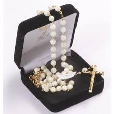 italian rosary of pearl rosary real pearl rosary pearl