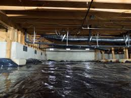 vapor barrier crawlspace cleanouts