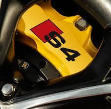 lexus yellow brake calipers product 2 x audi s4 brake caliper decals stickers vinyl emblem