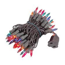 multi colored mini lights set 50 light brown wire 11